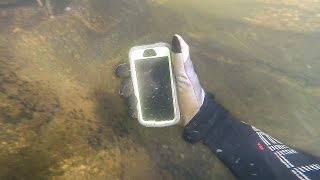Found Lost iPhone in River While Scuba Diving! (Returned to Owner) | DALLMYD
