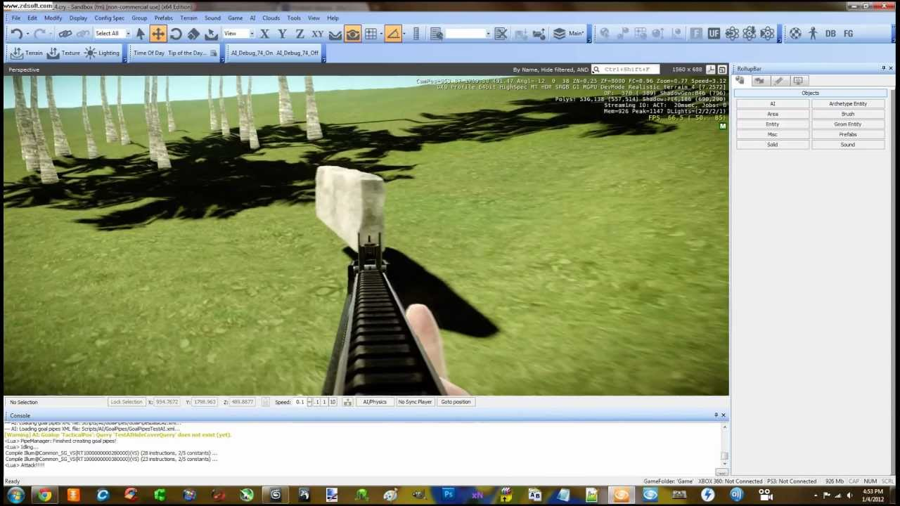 """Creating Pickable (""""pick-up-able"""") / Melee weapons in Cryengine 3 SDK Part 3"""