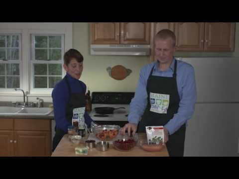 Youtube Screenshot for Cranberries With Roasted Sweet Potatoes Recipe Video