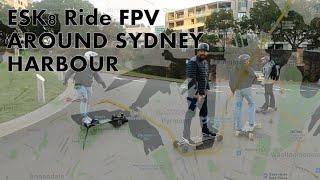 Sydney Eboard FPV ride around Sydney harbour, VESTAR, Evolve, Tranzite, Ekewill Verreal & Ecmobl