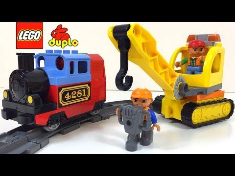 LEGO DUPLO ZUG TRACK SYSTEM MIT MOTORISIERTE LOKOMOTIVE UND WAGGONS