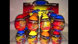 Яйца Сюрприз Киндер Тачки Unboxing Kinder Eggs Surprise Cars Welly Машинки сюрпризы для детей