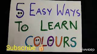 Colour recognition for kids/colour activity for preschooler/how to teach colours to kids
