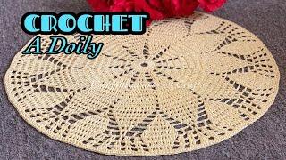 CROCHET Easy And Beautiful Doily || Crochet Doily