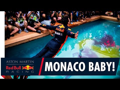 One Team, One Pool! | The Team celebrate Daniel Ricciardo's Monaco Grand Prix win!