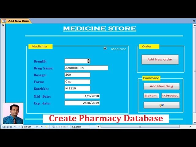 Create Pharmacy Database in Ms Access | Part 1