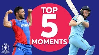 Gulbadin Naib? Morgan? | England Vs Afghanistan - Top 5 Moments | ICC Cricket World Cup 2019