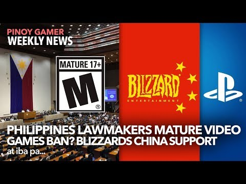 Philippines Lawmakers Mature Video Games Ban? Blizzards China Support Backlash +  PUBG M 0.15.0
