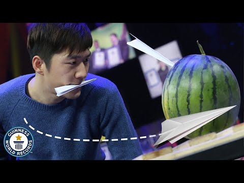 Throwing Paper Airplanes Into Watermelons is Another Weird World Record