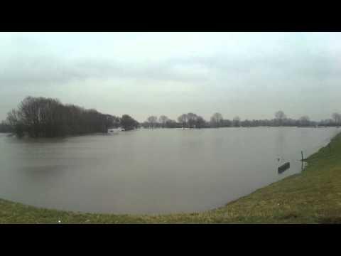 Hoogwater van de Maas in Boxmeer - 12 januari