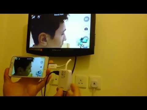 Connect Galaxy S5 to HDTV using your HDMI/HDTV Adapter