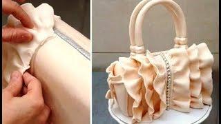 How To Make A Ruffle Fashion Handbag Cake  By Cakes StepbyStep