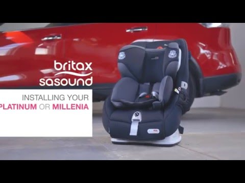 Britax Safe-n-Sound Platinum PRO & Millenia ISOFIX Forward Facing Installation Video