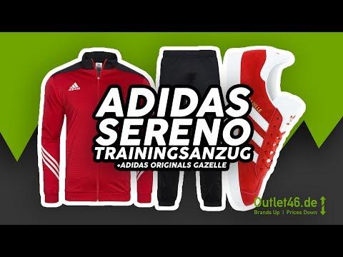 🏅 adidas Sereno 14 Trainingsanzug ❌ adidas Originals Gazelle 🏅 DEUTSCH Review l On Feet l Outlet 46