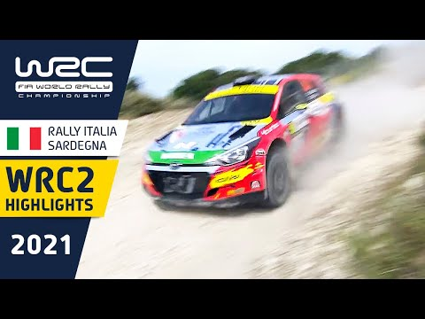 WRC2 2021 第5戦ラリー・イタリア Day2ハイライト動画