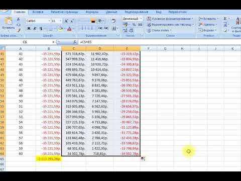 Аннуитентный платеж. График в Excel