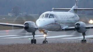 Fairchild Swearingen Metro 23 Take Off At Airport Bern-Belp - Nice Turboprop Sound