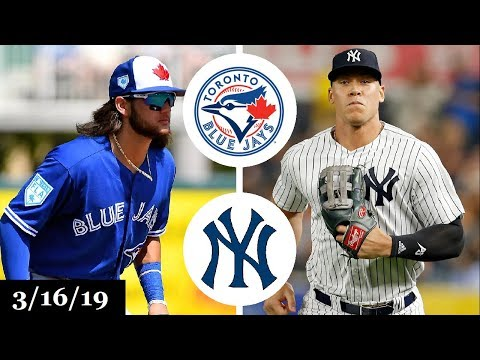 Toronto Blue Jays vs New York Yankees Highlights | March 16, 2019 | Spring Training