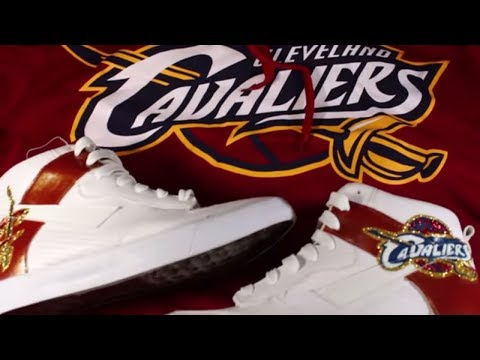 Video Thumbnail of Custom Shoes Cleveland Cavaliers Glitter Shoes