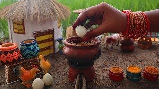 Miniature Egg Biryani | Egg Biryani Recipe | Miniature Cooking #46 | Mini Foodkey