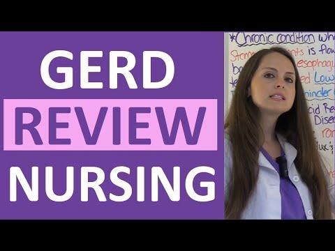 Video GERD | Gastroesophageal Reflux Disease Nursing NCLEX Lecture | Symptoms and Treatment