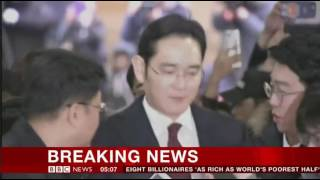 South Korea Prosecutor Seeks Arrest of Samsung Group Leader in Bribery Case Breaking News
