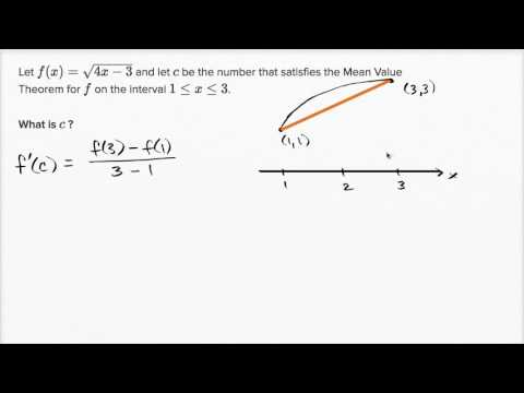 Mean value theorem example: square root function (video) | Khan Academy