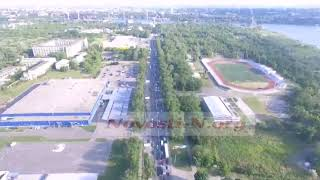 В Николаеве проспект застыл в пробке — видео с высоты
