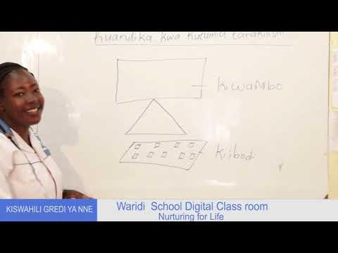 GRADE 4 - KISWAHILI ONLINE LESSON ONE