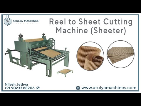 Paper Reel To Sheet Cutting Machine (Sheeter)