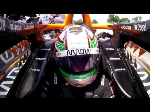 インディーカー第7戦 デトロイト 決勝レース1の予選ハイライト無料動画
