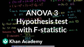 ANOVA 3 -Hypothesis Test with F-Statistic