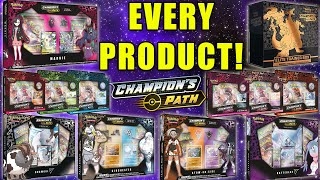 OPENING EVERY CHAMPION'S PATH POKEMON CARDS PRODUCT EVER MADE! by The Pokémon Evolutionaries