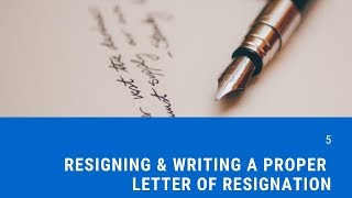Resigning & Writing a Letter of Resignation | CareerScript