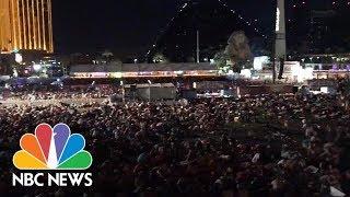 Witnesses Capture The Panic Of Las Vegas Shooting | NBC News