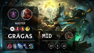 Gragas Mid vs Cassiopeia - KR Master Patch 10.9