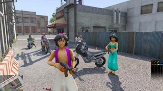 GTA 5 Mod - Aladdin với Công chúa Jasmine và Cuộc Chiến Thế Giới