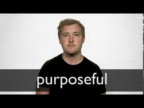 Purposeful definition and meaning | Collins English Dictionary