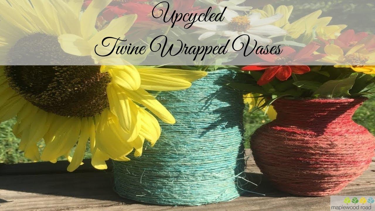 Upcycled Wrapped Vase