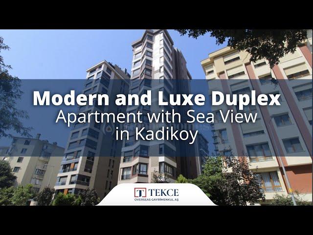 Duplex Apartment Near the Coast in Istanbul Kadikoy