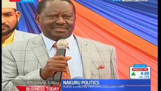 ODM leader Raila Odinga comes to the defence of Governor Joho on being barred from SGR launch