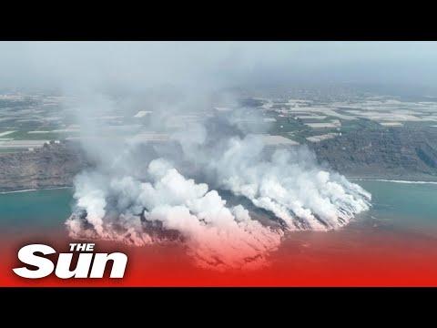 epien-zapis-ot-dron-na-vulkan-la-palma-sazdavasht-nova-zemna-masa