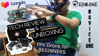 EACHINE NOVICE-I 2S TINY WHOOP DRONE UNBOXING & REVIEW   GREAT FOR BEGINNERS FPV DRONE FLYING