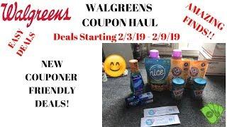 Walgreens Coupon Haul Deals Starting 2/3/19~Super Cheap & Easy Deals New Couponer Friendly  Deals ❤️