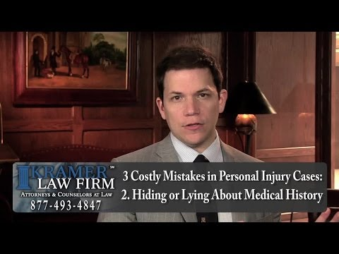 Orlando Personal Injury Attorney explains Mistakes To Avoid in a Personal Injury Case.
