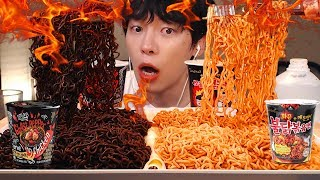 sub)🌶🔥🌶DAEBAK GHOST PEPPER NOODLES vs  FIRE NOODLES CHALLENGE | EATING SHOW,MUKBANG[SIO ASMR]