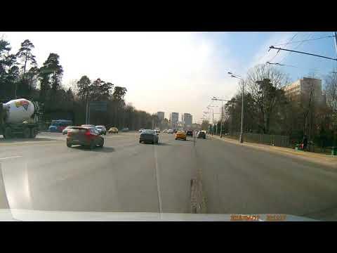 ДТП из-за человека с пистолетом на Волоколамском шоссе