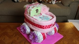 Baby Carriage Diaper Cake (How To Make)