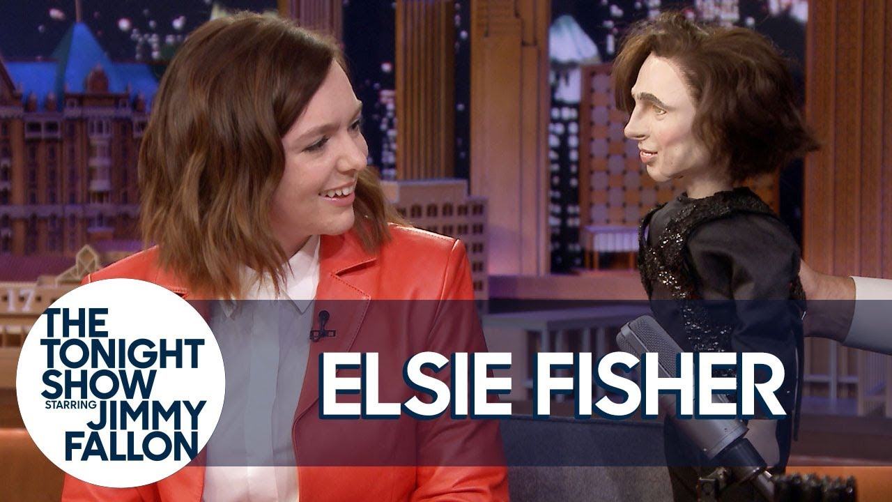 Elsie Fisher Reenacts Meeting Timothée Chalamet with a Puppet thumbnail