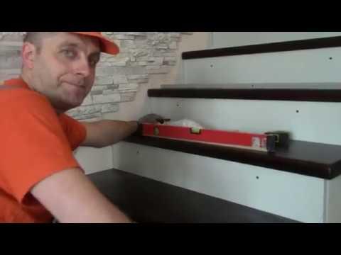 Отделка бетонной лестницы деревом. Как это делаем мы ....
